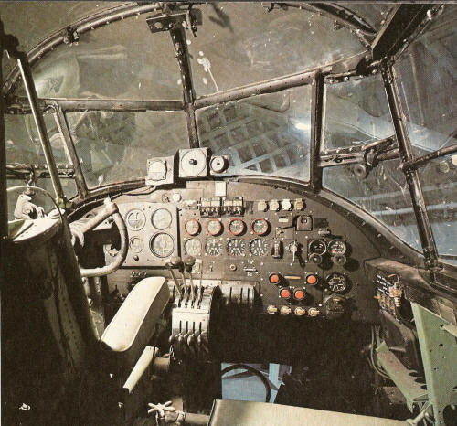 The Cockpitt where the Pilot and the Engineer are sitting
