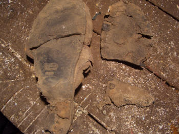 Boot Remains from an Airman with big Feet